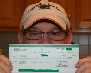 Notice that Bill's check is much smaller