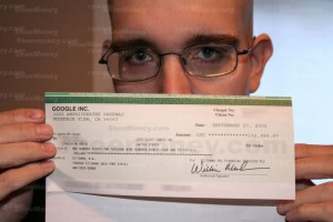 Jason Schoemoney and the famous Google check for $133,000