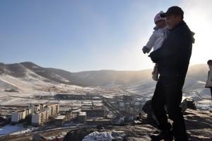 Man Holding Girl, Zaisan Memorial, Ulaanbaatar, Mongolia